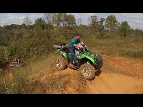Yadkin County North Carolina riding dirt bikes and four wheelers cross country riding