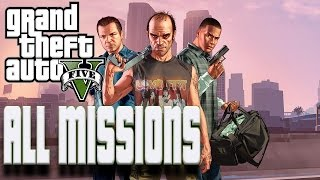 Grand Theft Auto 5 All Missions Walkthrough Gameplay No Commentary (PC)