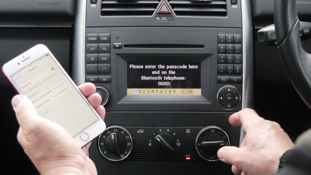 Iphone Audio Jack Diagram How To Pair A Phone To The Bluetooth System In A Mercedes