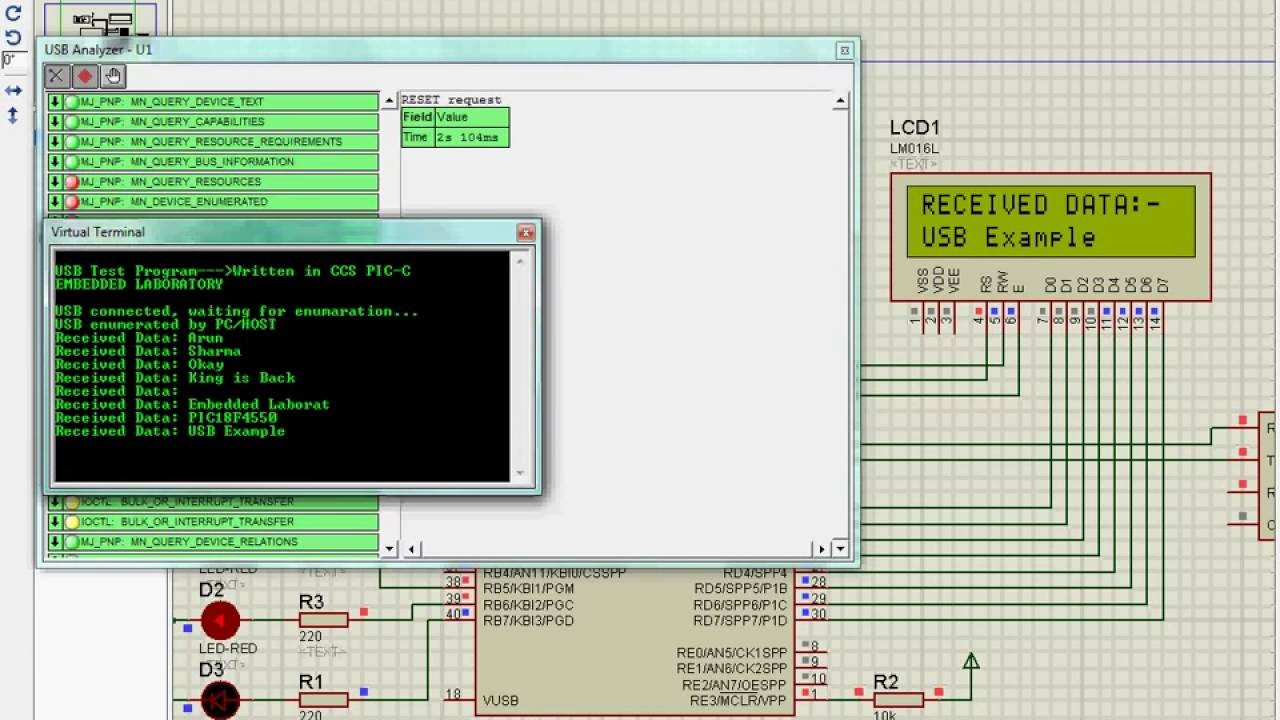 USB HID Example Using CCS PIC C Compiler