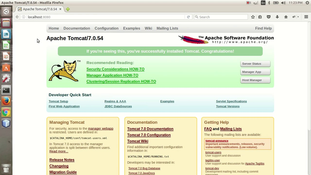 install tomcat 7 on ubuntu 14.04