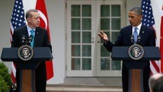 اوباما واردوغان يتعهدان بتشديد الضغط على النظام...