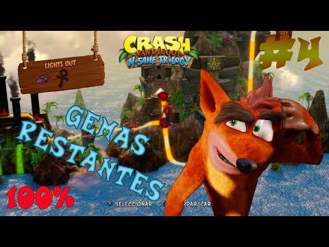 Guia Crash Bandicoot N. Sane Trilogy   Todas Las Gemas Restantes   Crash Bandicoot   100%