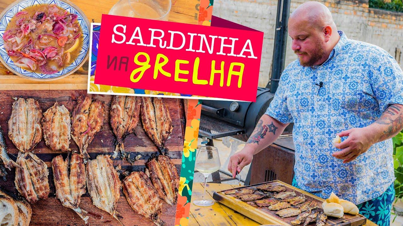 Sardinha na Grelha (Receita de Sardinha grelhada com molho escabeche) - Cansei de ser chef