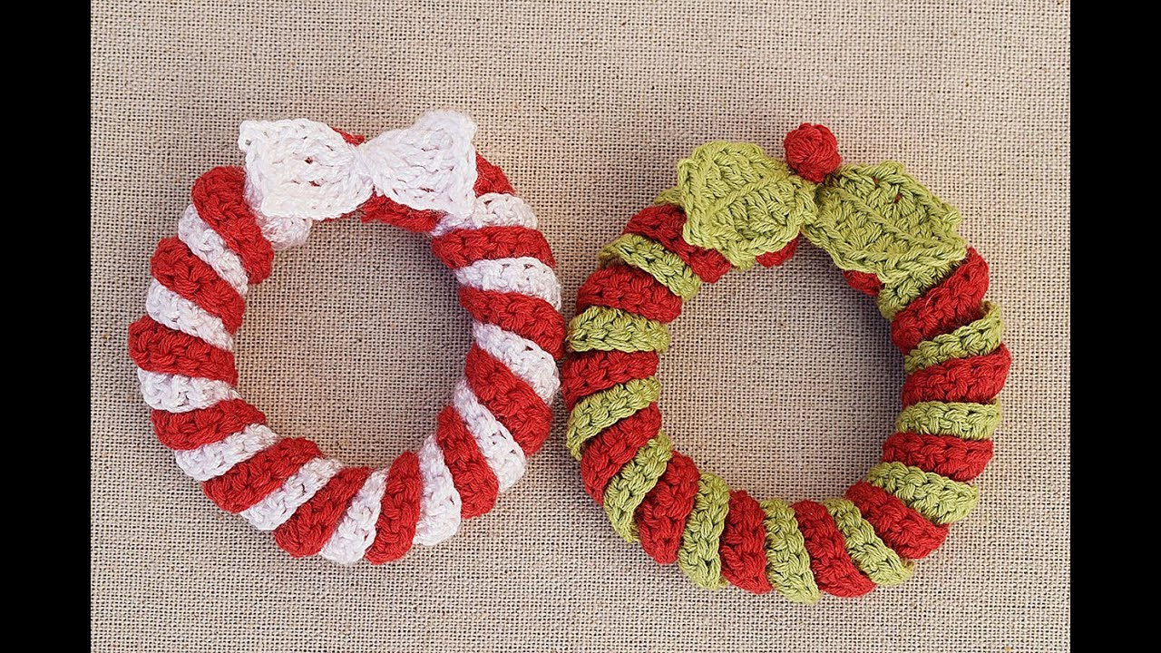 Crochet Christmas wreath very easy