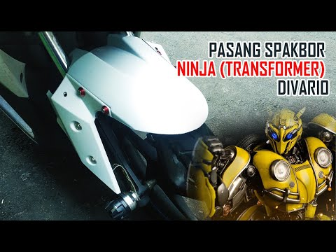 Cara Pasang Spakbor Ninja Transformer Di Honda Vario