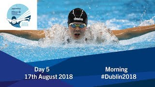Day 5 Morning 2018 World Para Swimming Allianz European Championships