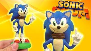 ЛЕПИМ ЁЖИКА СОНИК БУМ из ПЛАСТИЛИНА | Sonic Boom Plasticine Tutorial