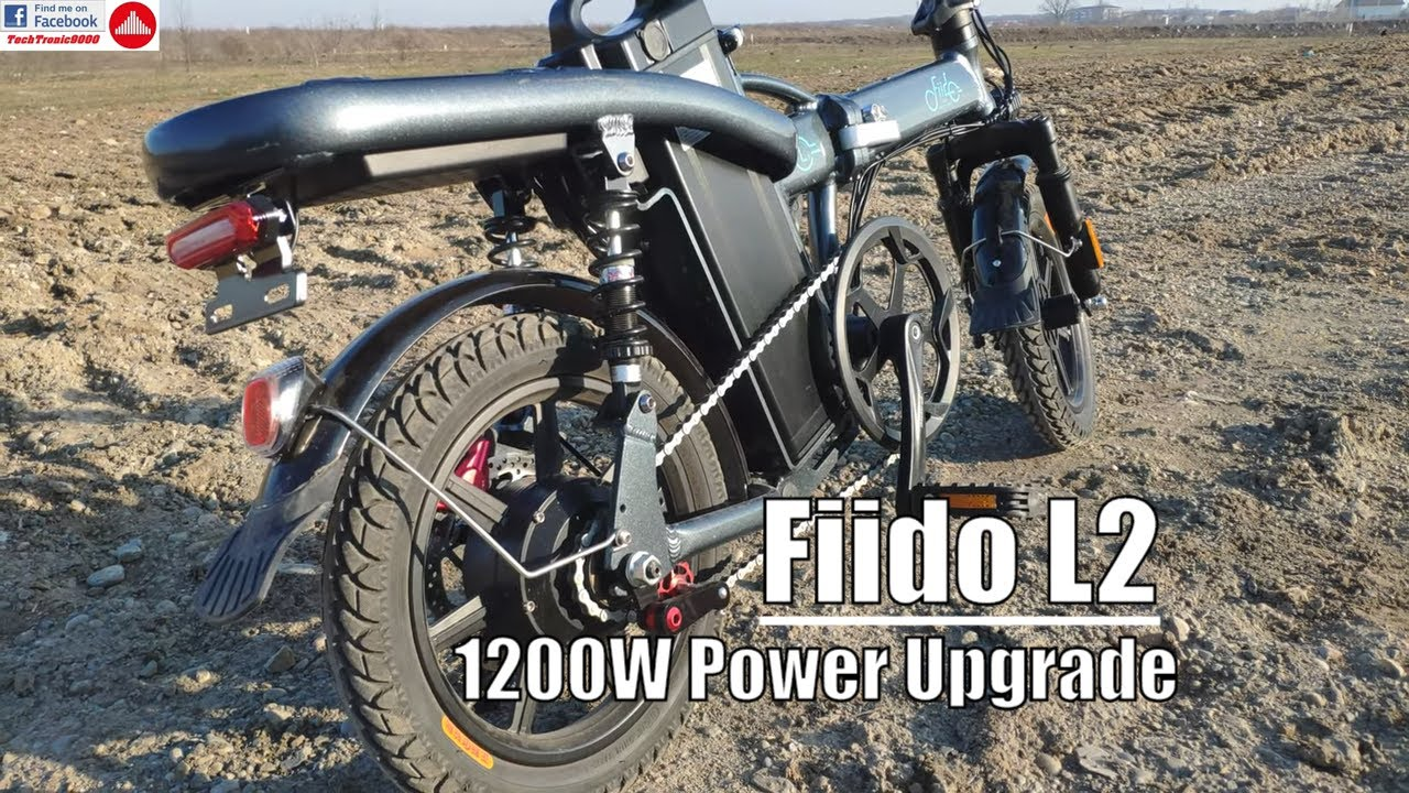 Fiido L2 Ride Speed Test With 1200w Controller Upgrade Youtube