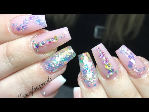 BABY PINK | ACRYLIC NAILS | GLITTER | INFILL