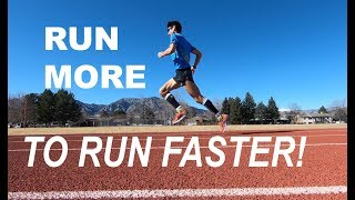 RUN MORE ( TO RUN FASTER ) AT DISTANCE RUNNING RACES!   COACH SAGE CANADAY TRAINING TALK