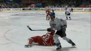 World Ice Hockey Championship 2005: Quarterfinal. Finland vs Russia