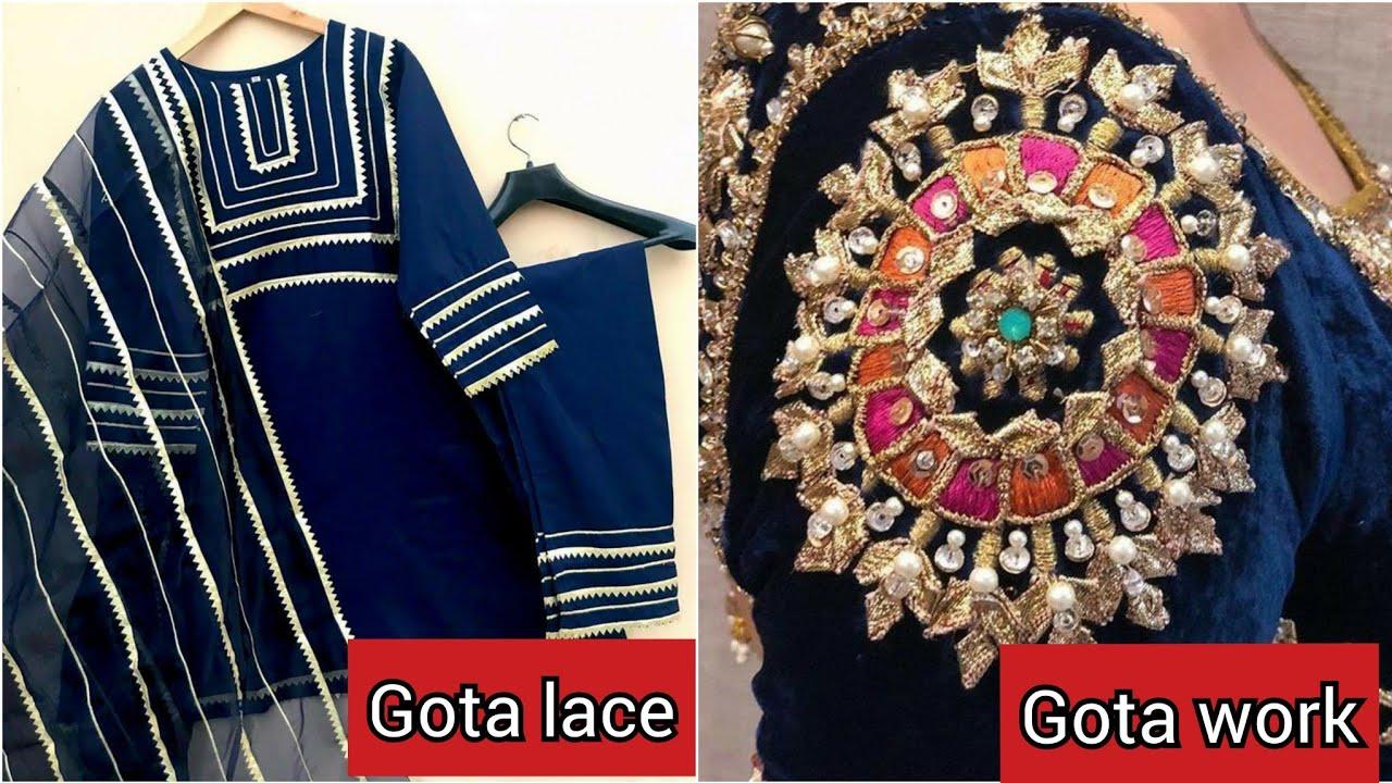 Most Demanding Designer's gota lace/Gota Work Dress Designs Idea's