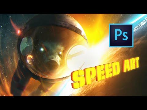 Сказал - СДЕЛАЛ! КОСМИЧЕСКИЙ НИНДЗЯ - СВИН ЛЕТИТ НА ЗЕМЛЮ ?! Photoshop Speed Art