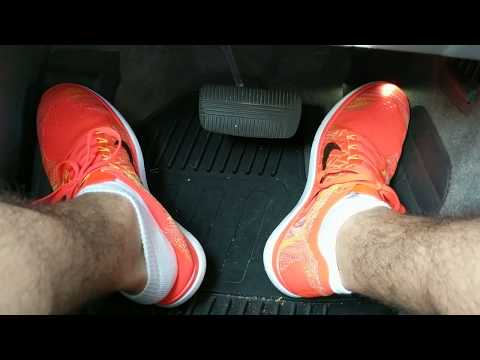 Driving Wearing My New Nike Free 4.0 Running Shoes!