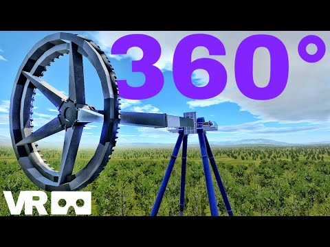 360°Big Swing flat ride Rollercoaster (VR 360 POV) Extreme theme park 3D SBS Simulator Video