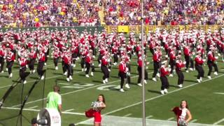 Wisconsin Marching Band 2016 Lambeau field pre game