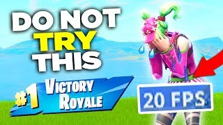 Can you WIN with EXTREME LAG on Fortnite? Here is what happened.