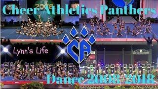 Cheer Athletics Panthers Dance Evolution 2008-2018