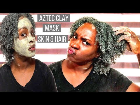 I used Aztec Clay Mask on my Skin and Natural Hair | Aztec Clay Mask | Type 4 Natural Hair