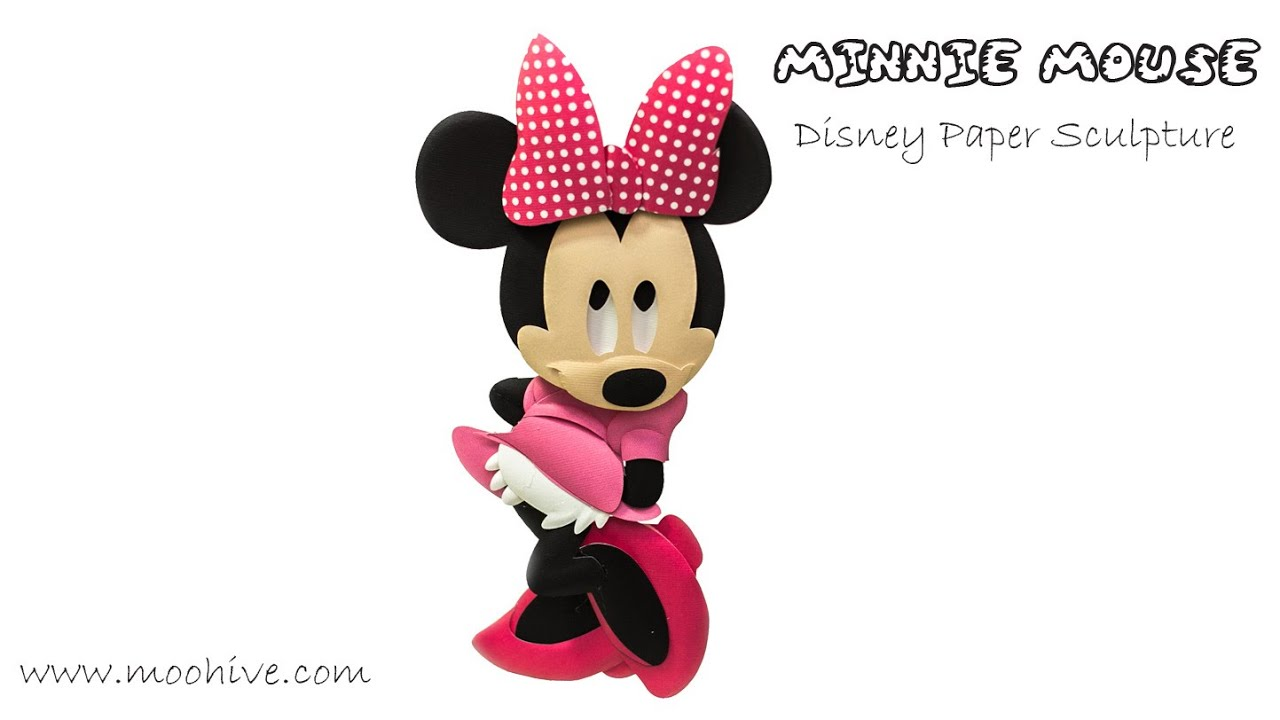 Minnie Mouse DIY Disney Paper Art