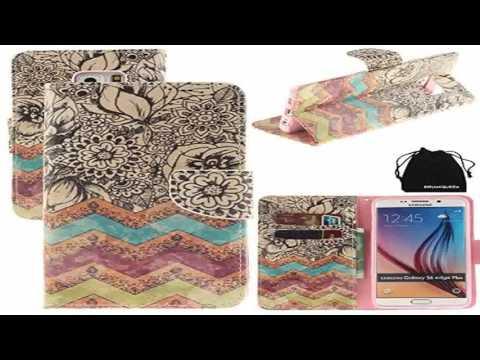 S6 Edge Plus Case DRUnKQUEEn PU Leather Credit Card Holder Case Stand Featu