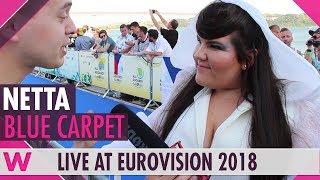 Netta (Israel) @ Eurovision 2018 Red / Blue Carpet Opening Ceremony