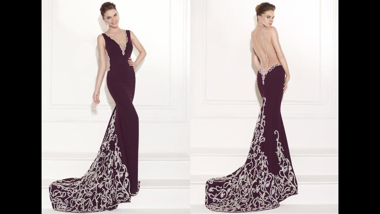 Tarik Ediz Prom Dress 92429 - YouTube