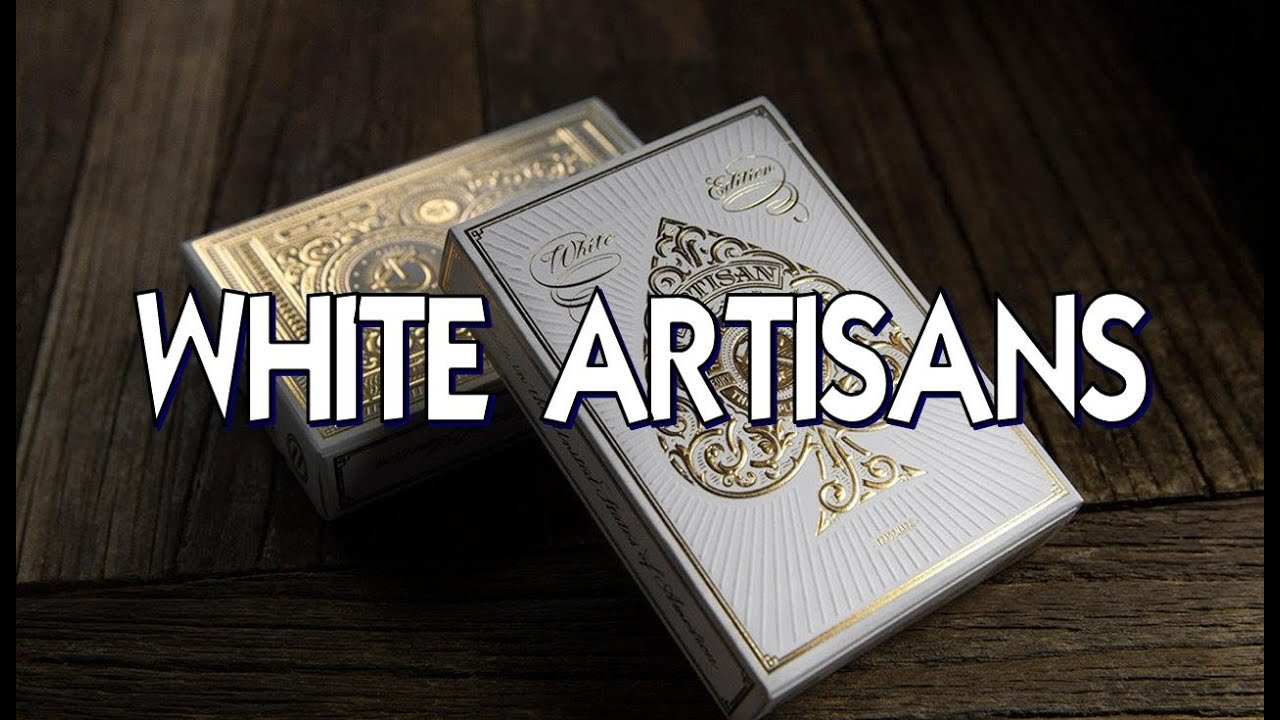 Artisan White Edition Playing Cards by theory11Poker Spielkarten Cardistry