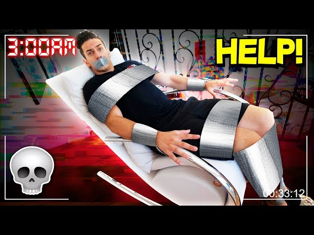 *EXTREME* DUCT TAPE CHALLENGE AT 3AM! 😱