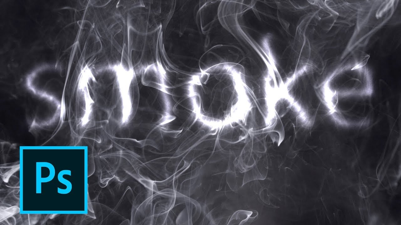 how to create a photoshop smoke text effect in 2 minutes