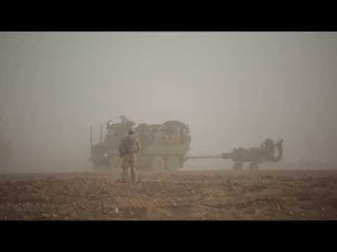 """The illegal and uninvited US """"Marines in Syria show ISIS why artillery is the king of battle""""."""