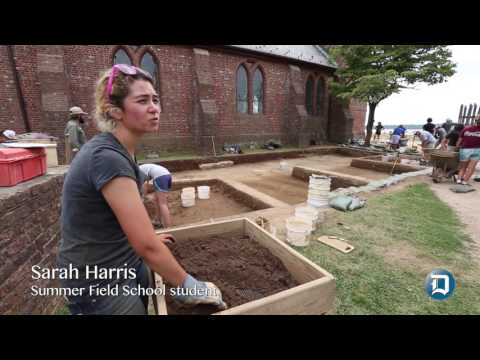 Daily Press: Jamestown historic church dig