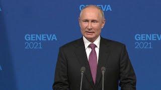 Владимир Путин дал пресс-конференцию по окончании переговоров в Женеве с Джозефом Байденом.