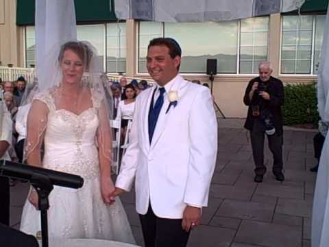Andrew Levy Victoria Melroy Wedding Ceremony at Brooklake Country Club on August 8 2015
