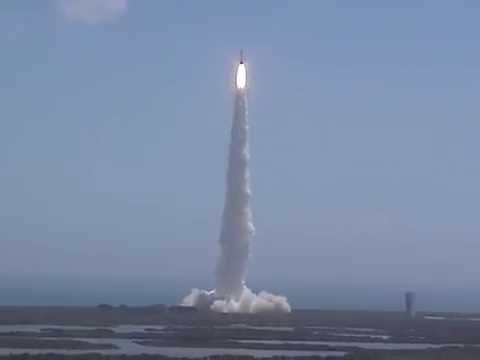 Juno Launch: from the KSC VAB roof, an Atlas 5 rocket launches NASA's Jupiter probe