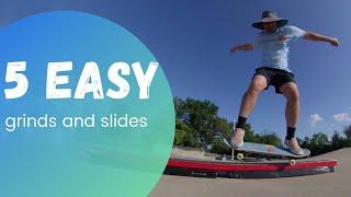 5 Easy Grinds and Slides on a Skateboard