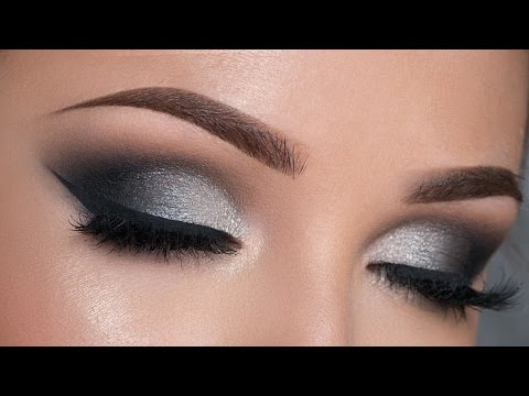Night Out Makeup Tutorial | Black & Silver Smokey Eye