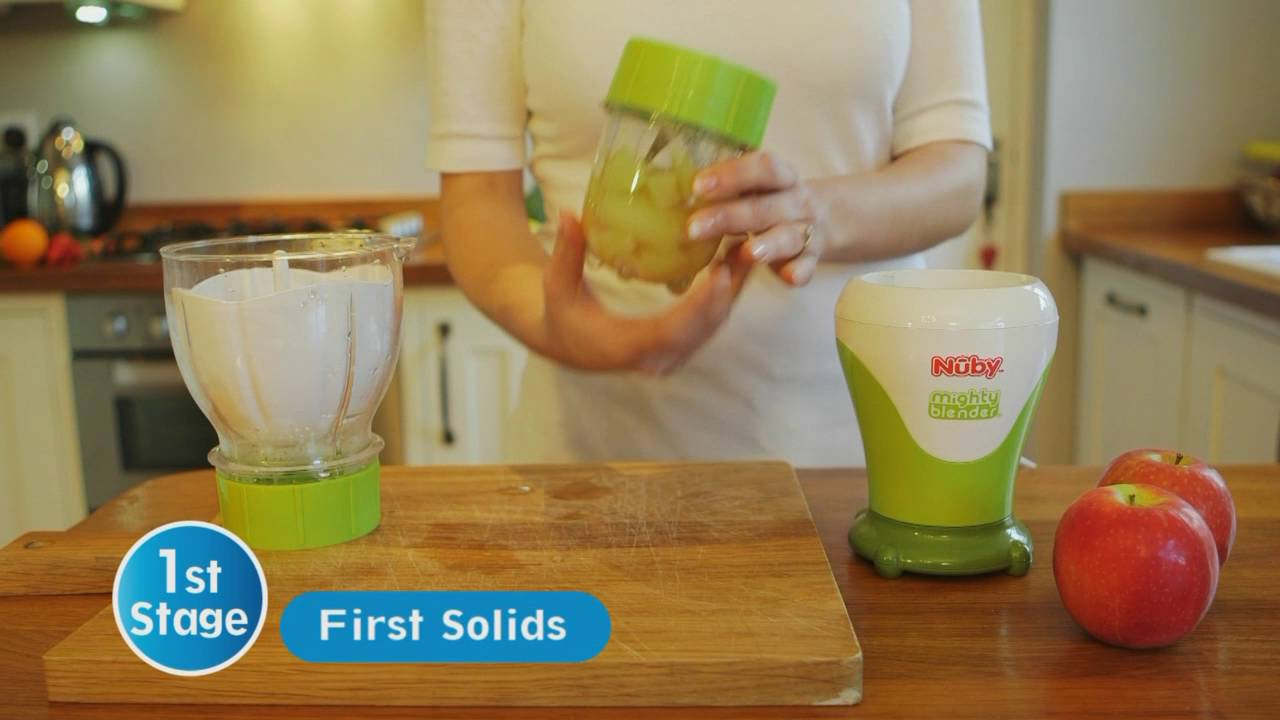 Nuby Garden Fresh Mighty Blender - YouTube