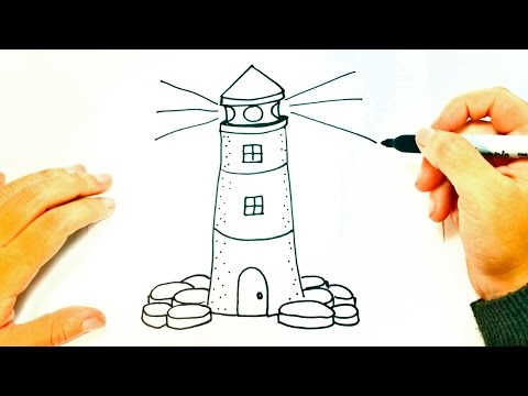 How to draw a Lighthouse for Kids | Lighthouse Easy Draw