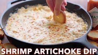 Holiday Appetizer: Shrimp and Artichoke Dip - Natashas Kitchen