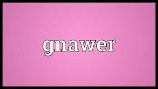 Gnawer Meaning