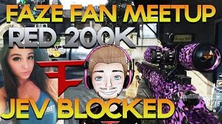 FaZe Fan Meetup, Red 200,000 Subs, Jev Blocked, Fake Youtubers - Red Scarce