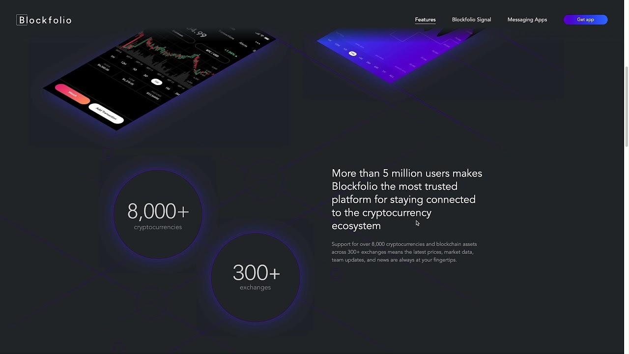 Keep track of your crypto portfolio with Blockfolio