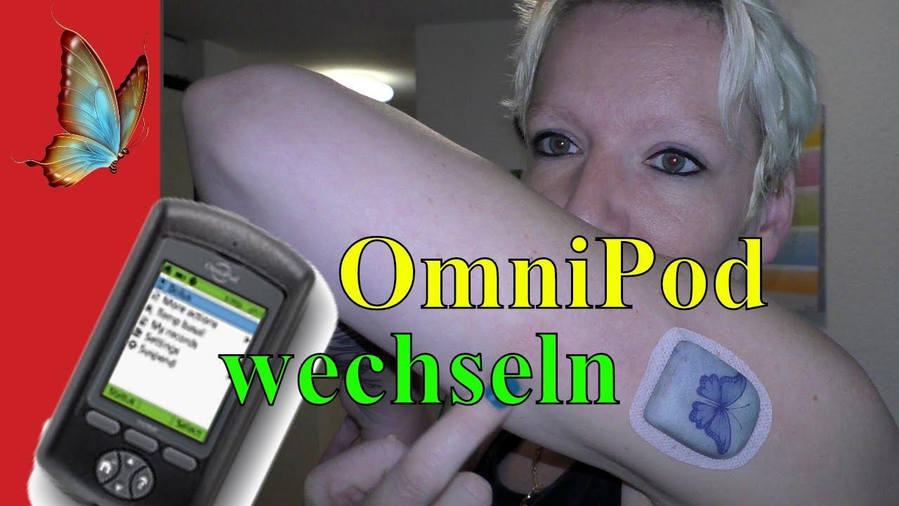 OmniPod Pod wechseln bei der Insulinpumpe MyLife OmniPod Insulinpumpe