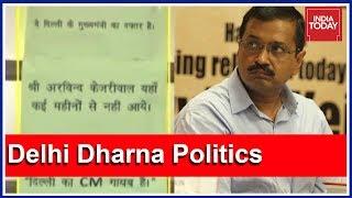 """""""Kejriwal Not At Office For Several Months"""": Kapil Mishra-BJP Poster At Delhi CM's Office"""