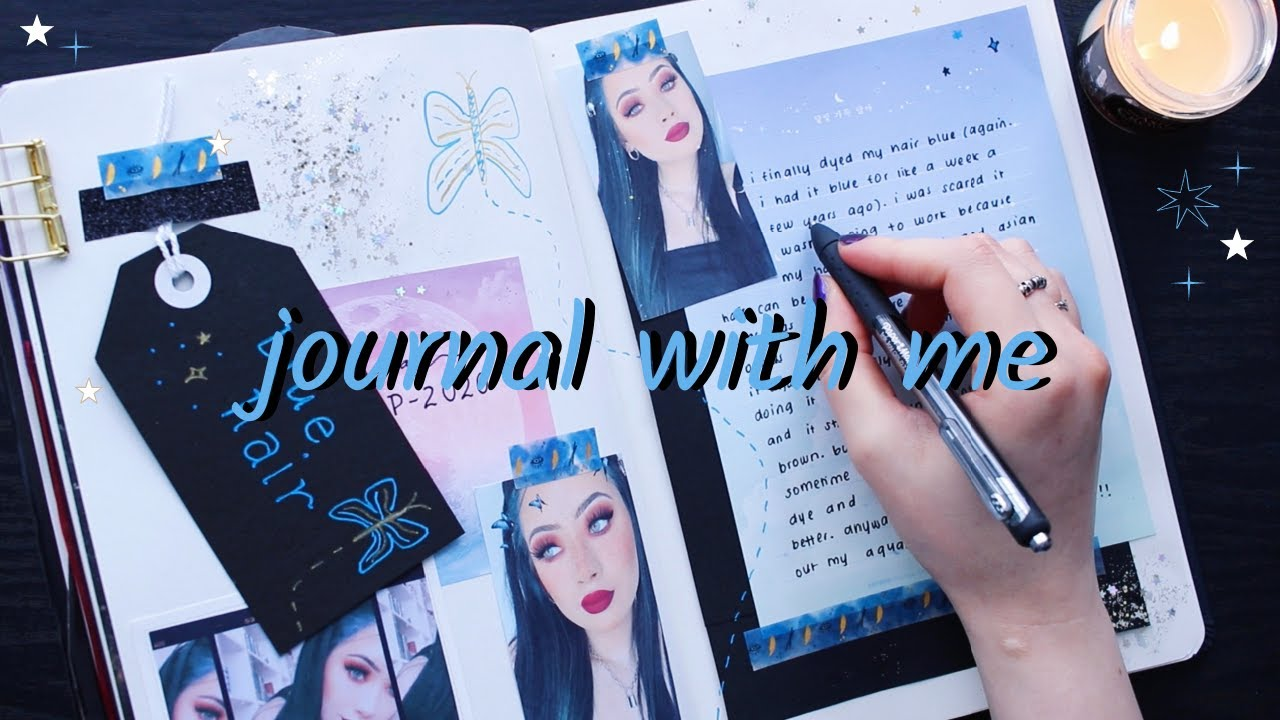 relaxing journal with me ☾ (real journaling sounds)