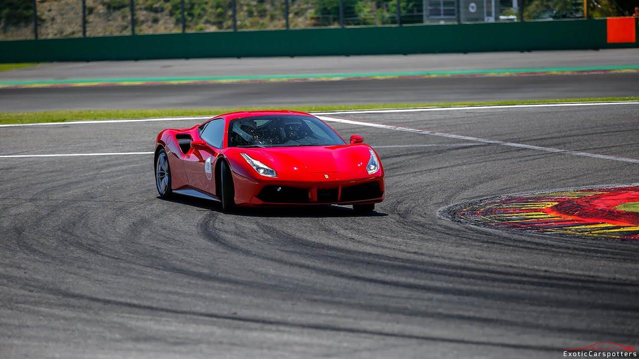 Drift Car Wallpaper Hd 7x Ferrari 488 Gtb On Track Drifting Accelerations Fly