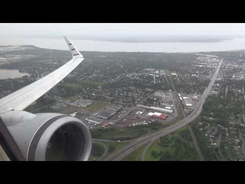 Alaska Airlines 737-800 takeoff from Anchorage Alaska ANC