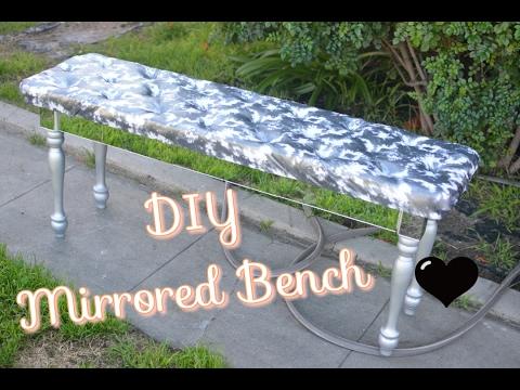 DIY Mirrored Bench ♥